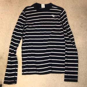 Navy blue and white striped Abercrombie shirt!!